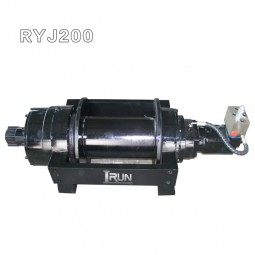 20 ton hydraulic towing winch for truck or trailer with pneumatic clutch and free wire release function