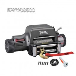 Fast Line Speed 9500lb Reovery Winch With Stand-Up Control Box